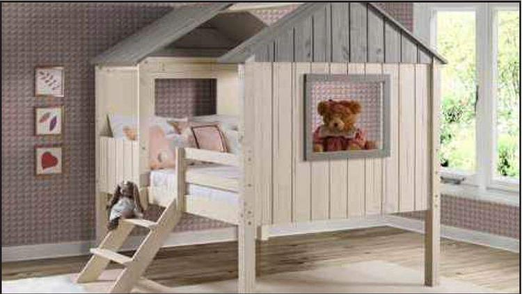 Donco Kids Full House Low Loft Bed