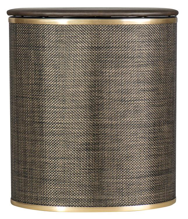 WC Redmon Espresso Bowed Front Hamper