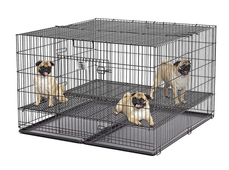 Midwest Rake Puppy Playpen With Plastic Pan And 1/2