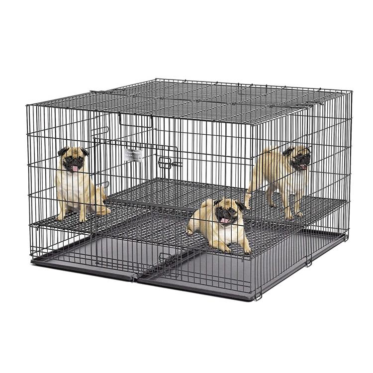 Puppy Playpen With Plastic Pan And 1/2