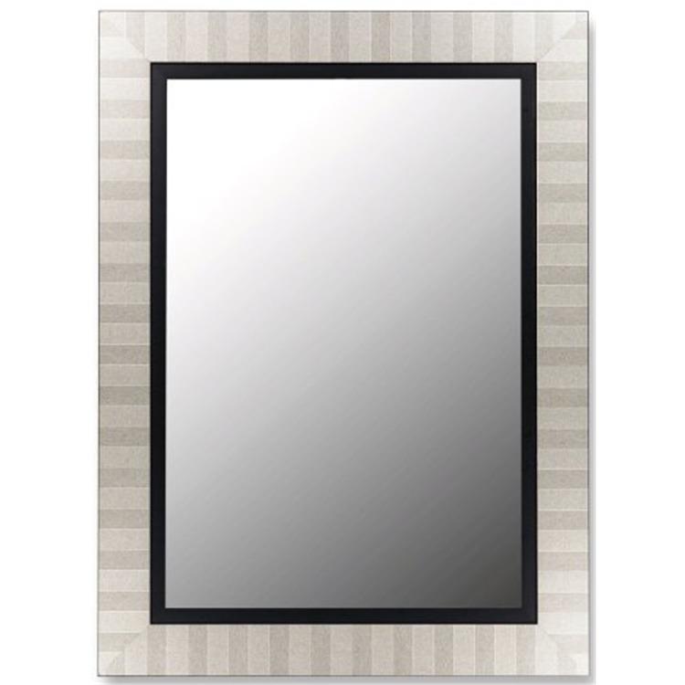 Parma Satin Black Liner Framed Wall Mirror