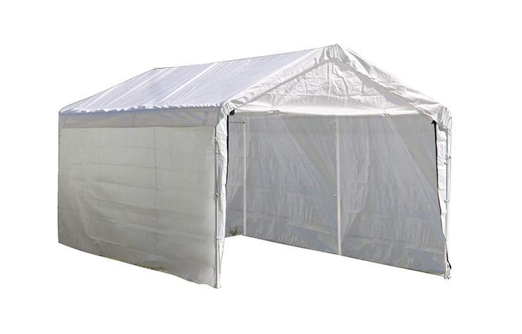 ShelterLogic 10×20 White Canopy Enclosure Kit, Fits 1-3/8