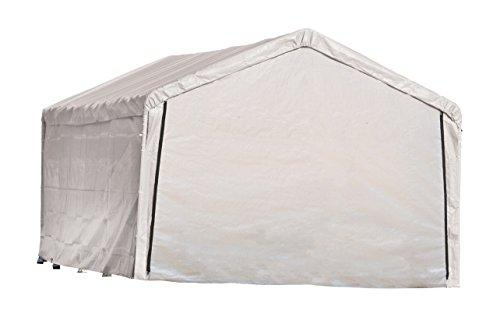 12×26 White Canopy Enclosure Kit, Fits 2