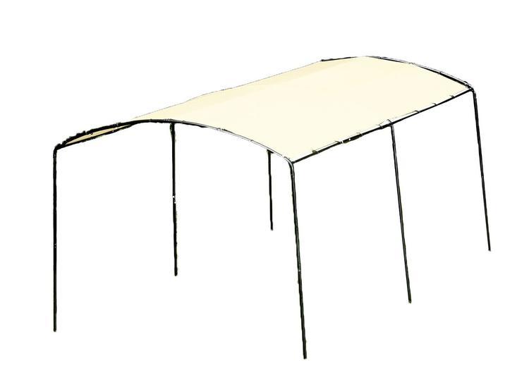 ShelterLogic 9'x16'/2,7 x 4,9m Monarc Canopy, 1 3/8'' Steel Black Frame, Sandstone Cover