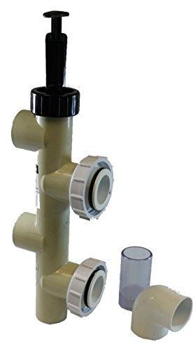Pentair PVC Push Pull Slide Valve, 7 1/2 Inch Centerline, Almond, For D.E. and Sand Filters