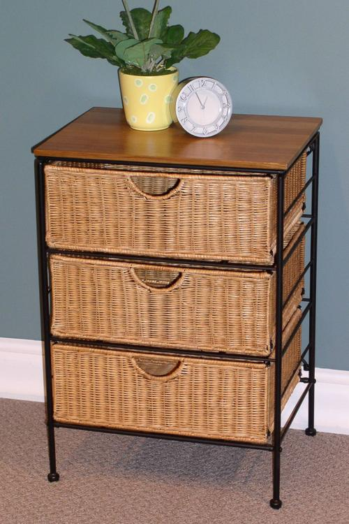 3 Drawer Wicker