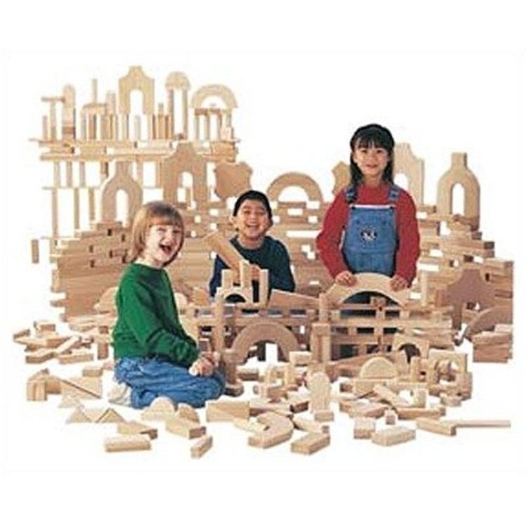 Jonti-Craft Unit Blocks - Intermediate Set, 170 Pieces, 21 Shapes