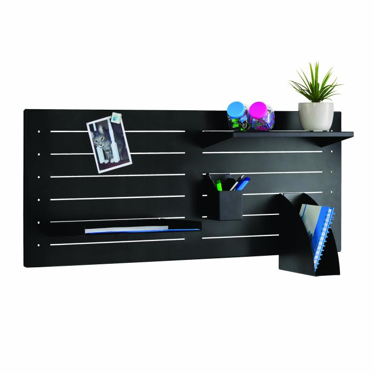 STEELMASTER Slot System Bundle Pack Including Base, Shelf, Bin, Tray, Cup and Hangers, 36 x 15.25 x 9.13 Inches, Black (264P29004) [Item # 264P29004]