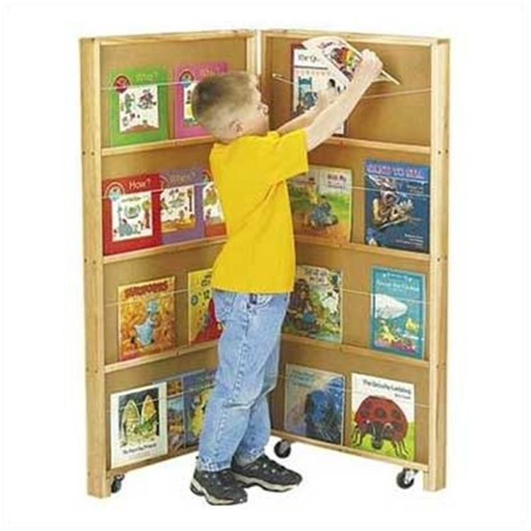 Jonti-Craft Mobile Library Bookcase - 2 Sections