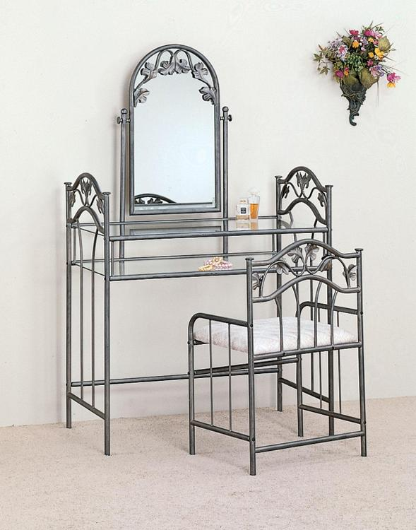 Coaster Transitional Nickel Bronze Vanity Set