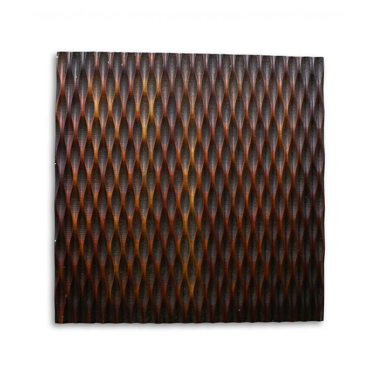 HomeRoots Decor 1-inch x 24-inch x 24-inch Brown, Metallic Ridge - Wall Art