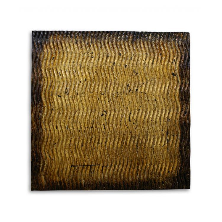 HomeRoots Decor 1-inch x 24-inch x 24-inch Bronze, Metallic S Pattern - Wall Art