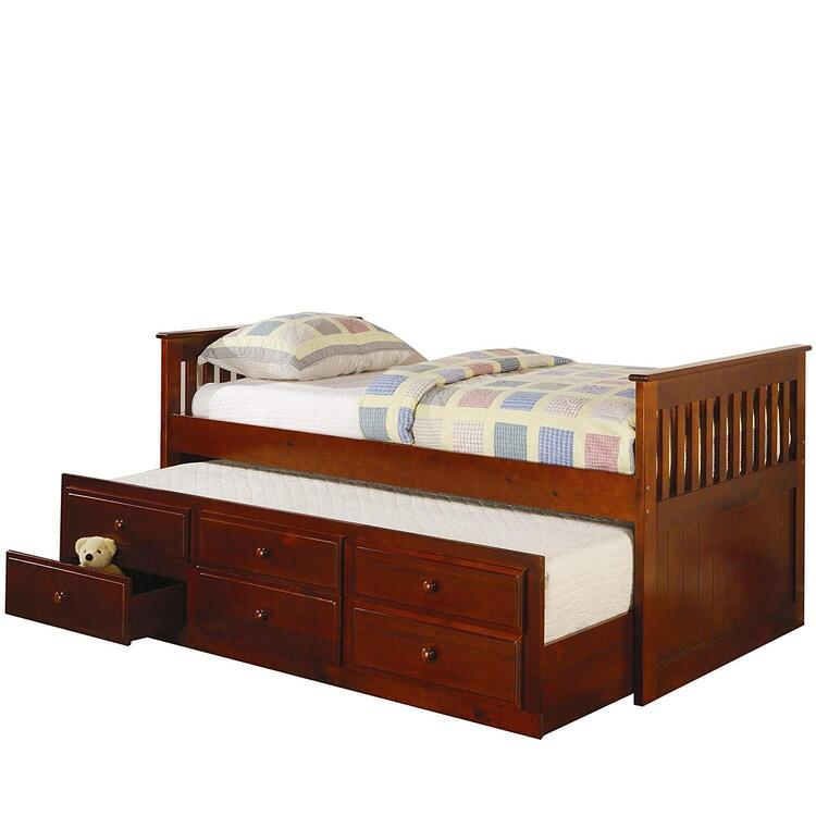 Coaster La Salle Twin Captain S Daybed, La Salle Twin Captain S Bed With Trundle And Storage Drawers White
