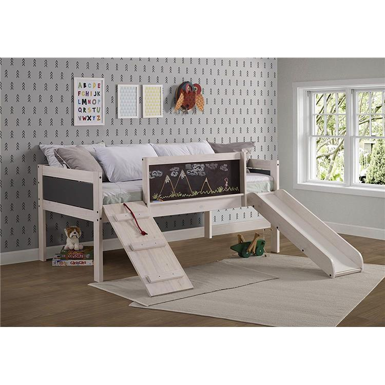 Donco Kids Twin Art Play Junior Low Loft Bed
