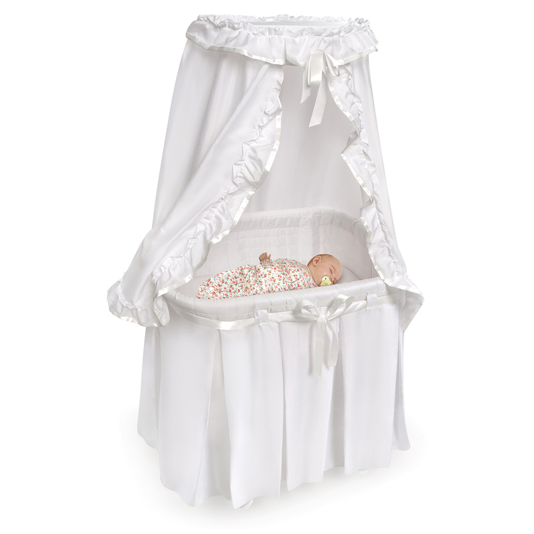 Majesty Baby Bassinet w/Canopy-White Bedding