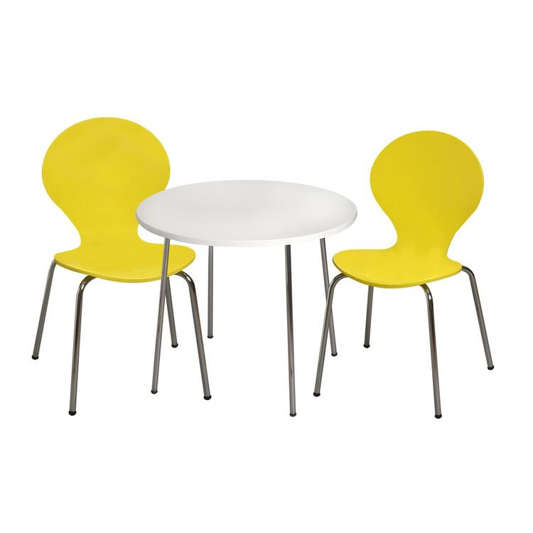 Modern Children's Table and  2 Chair Set with Chrome Legs