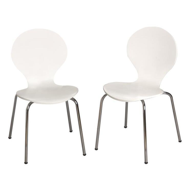 Gift Mark Modern Children's 2 Chair Set with Chrome Legs
