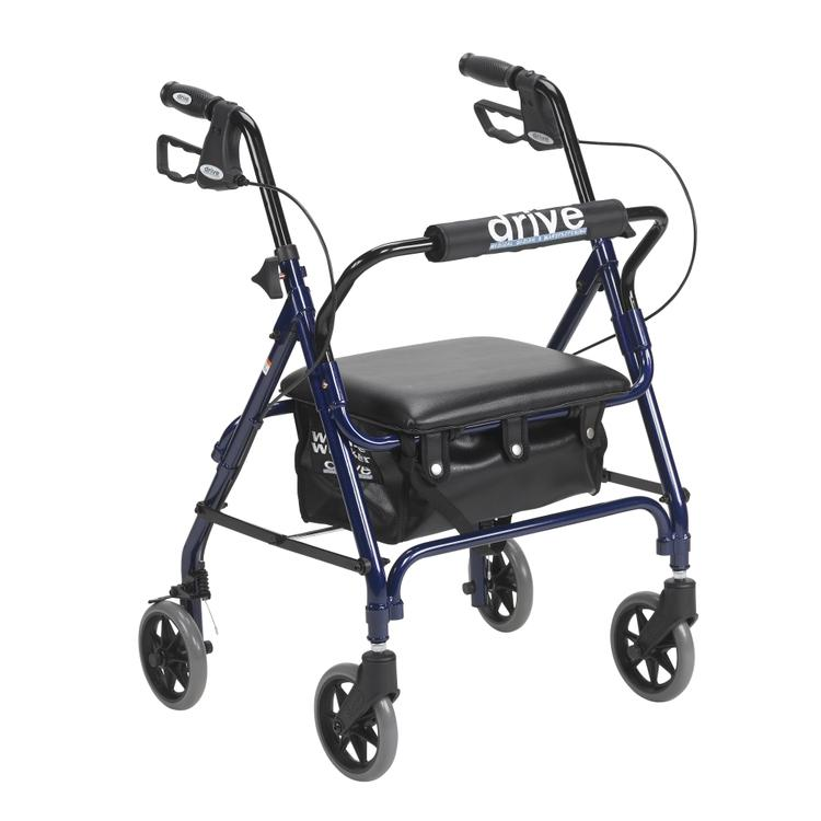 Junior Rollator Rolling Walker with Padded Seat