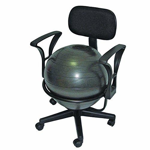 FEI FEI CanDo Ball Chair - Metal - Mobile - with Back - with Arms - with 18