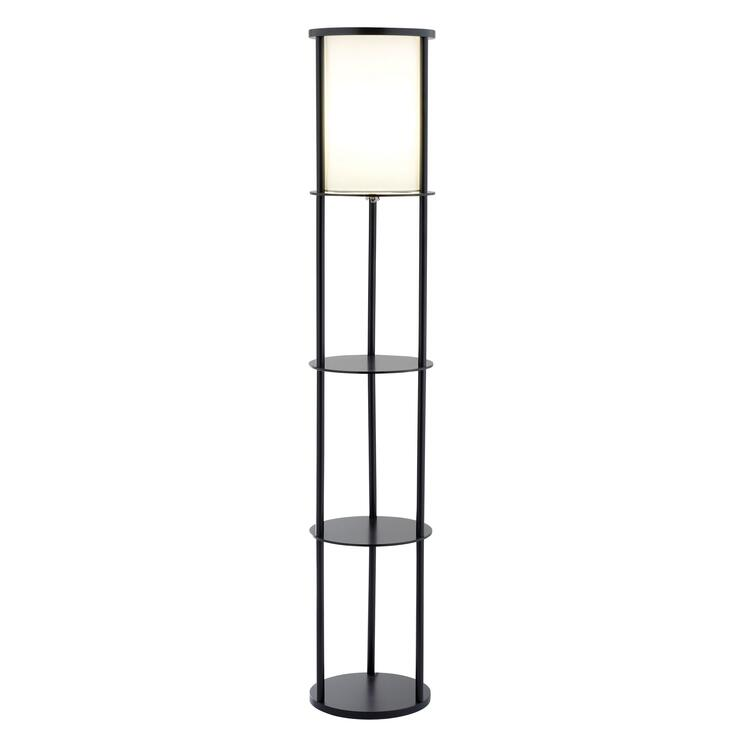 STEWART ROUND SHELF FLOOR LAMP
