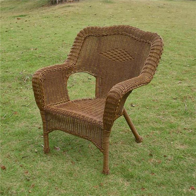 International Caravan Camelback Resin Wicker Patio Chairs