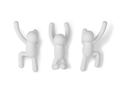 Umbra Buddy Wall Hooks, White, Set of 3 [Item # 318165-660]
