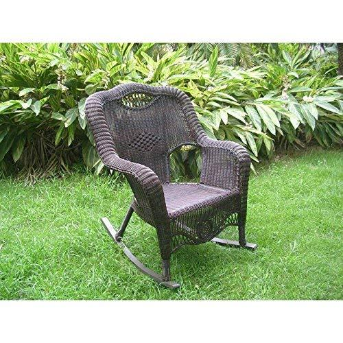 International Caravan Resin Wicker Indoor/Outdoor Rocker [Item # 3195-AP]