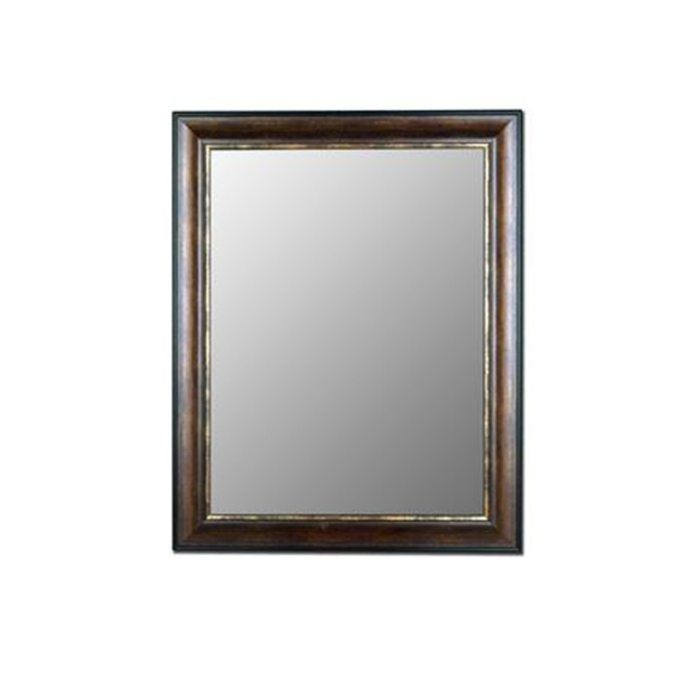 HITCHCOCK-BUTTERFIELD Crackled Brazilian Walnut Gold Mirror, Size 44 in. x 56 in. - Hitchcock-Butterfield - 330204