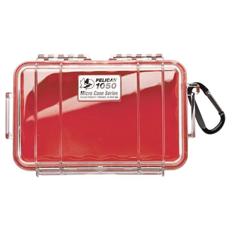 Micro Case 1050 Red/Clear
