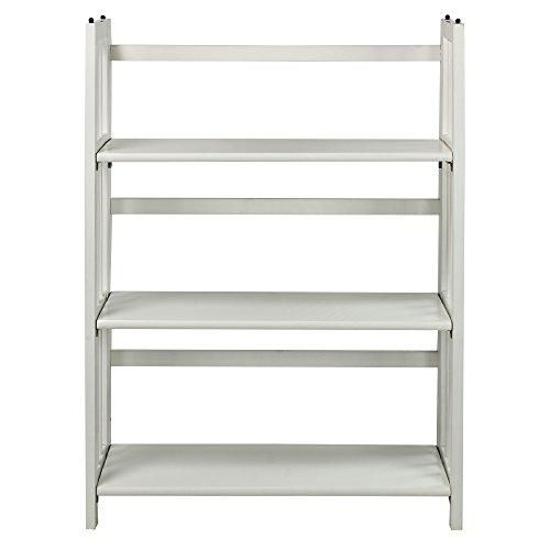 3-Shelf Folding Stackable Bookcase 27.5