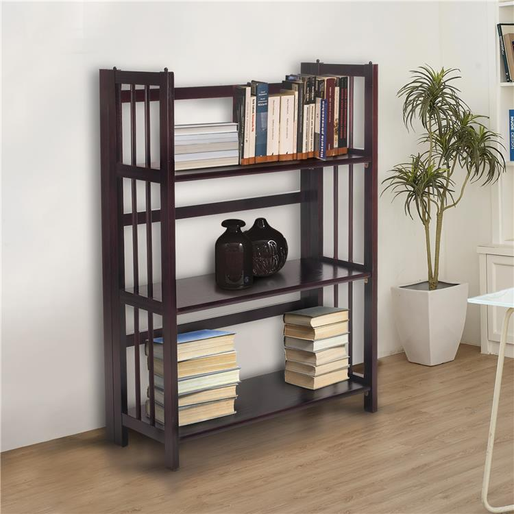 Casual Home 3-Shelf Folding Stackable Bookcase 27.5