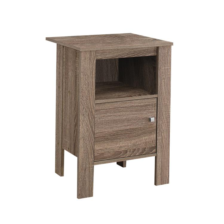 HomeRoots Furniture 14-inch x 17.25-inch x 24.25-inch Dark Taupe, Particle Board, Storage - Accent Table