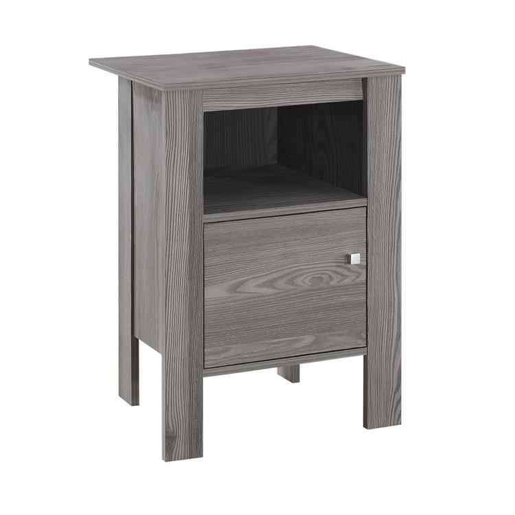 HomeRoots Furniture 14-inch x 17.25-inch x 24.25-inch Grey, Particle Board, Storage - Accent Table