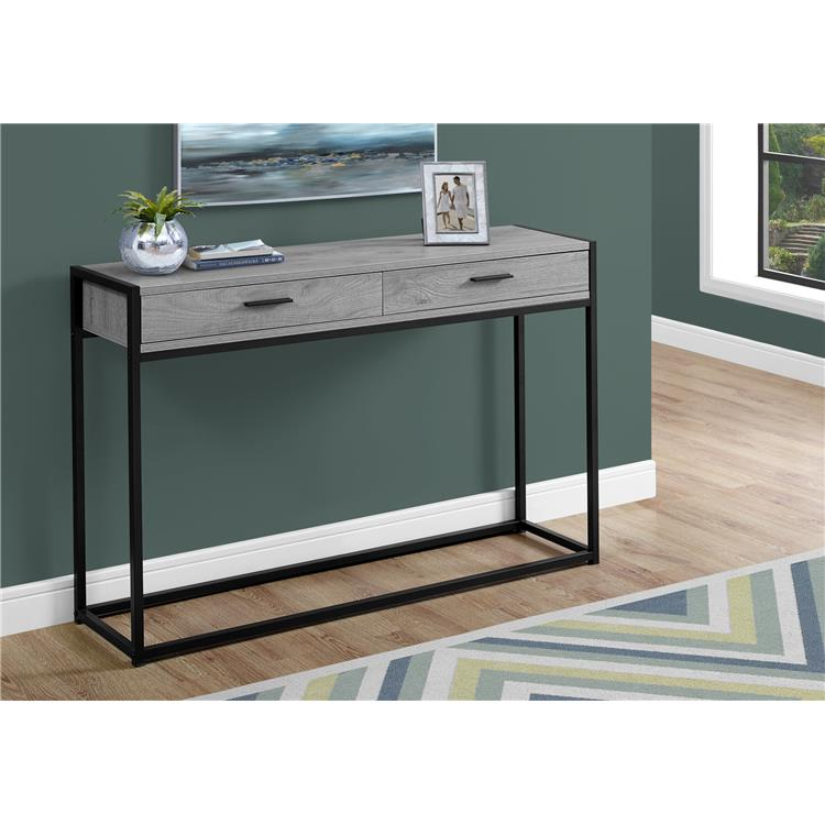 HomeRoots Decor 32-inch MDF and Black Metal Accent Table
