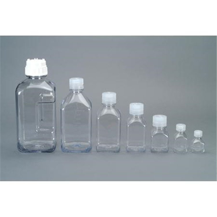 Transparent Lexan Square Storage Bottle
