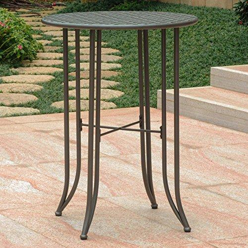 International Caravan Mandalay Iron Bar Height Round Table