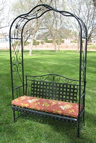 International Caravan Mandalay Iron Arbor Bench