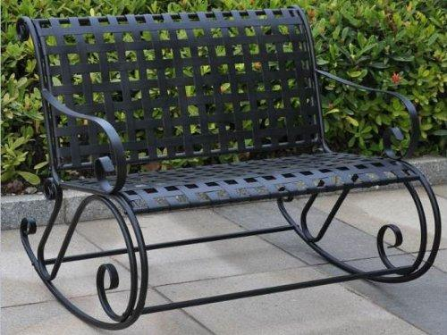 International Caravan Mandalay Iron Bench Rocker