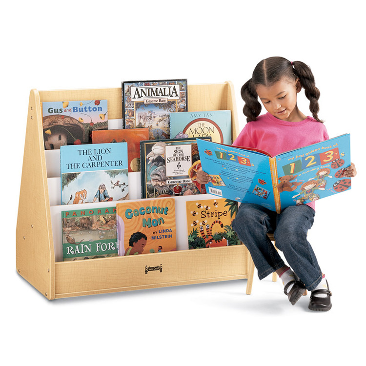 Jonti-Craft Maplewave Pick-a-book Stand - 1 Sided