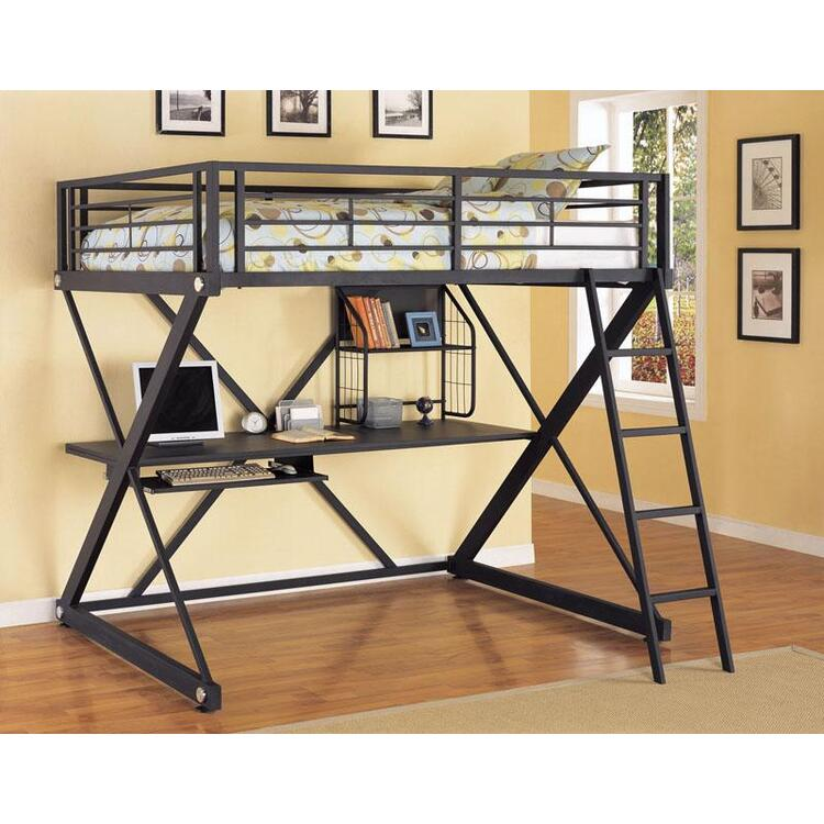 Z-Bedroom Full Size Study Loft Bunk Bed