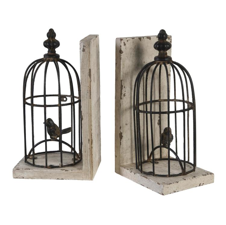 A&B Home Birdcage Bookends - Set of 2