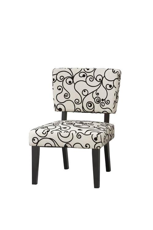 Linon Taylor Accent Chair - White Black Circles