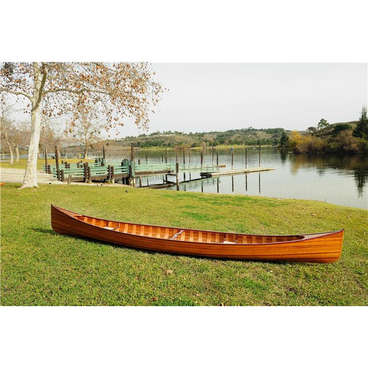 HomeRoots Decor 35.5-inch x 216-inch x 27-inch Wooden Canoe with Ribs