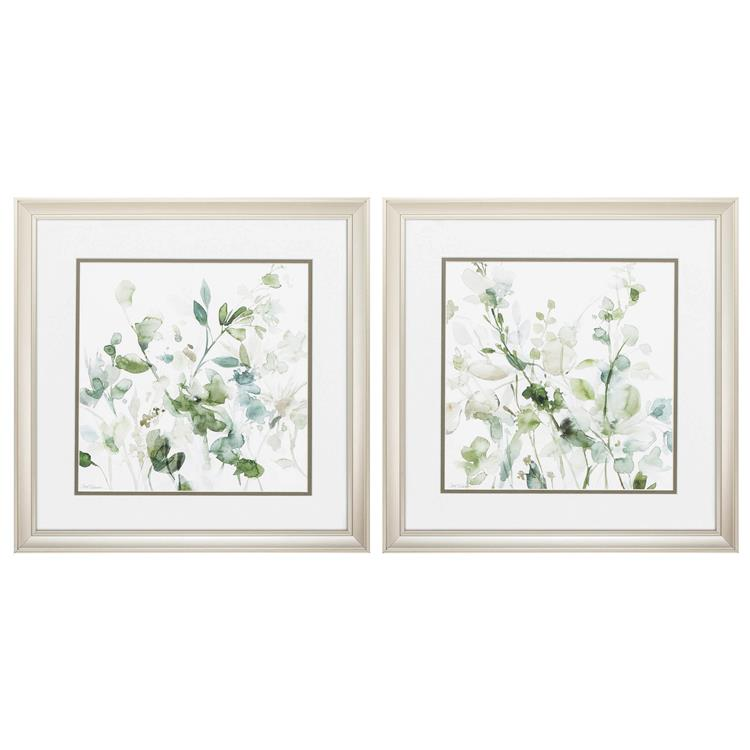 HomeRoots Decor 18-inch X 18-inch Champagne Gold Color Frame Sage Garden (Set of 2)