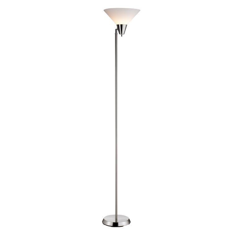 Swivel Floor Lamp - Satin Steel