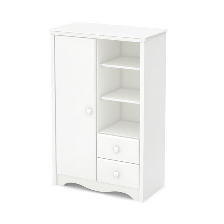 South Shore Angel Armoire With Drawers