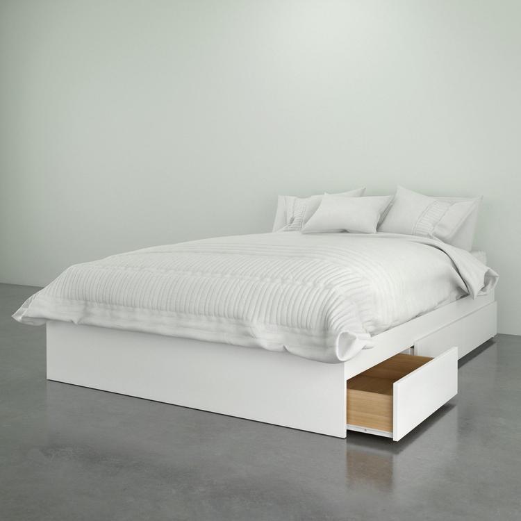 Nexera 375403 3-Drawer Full Size Bed, White