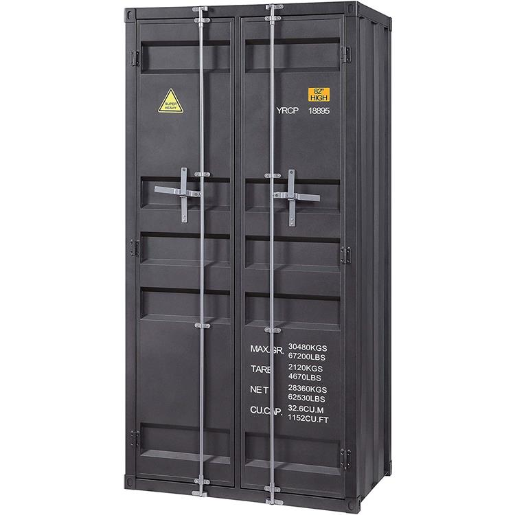 Acme Cargo Wardrobe (Double Door), Gunmetal (1Pc/1Ctn)