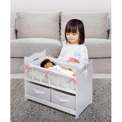 Badger Basket Doll Crib with Two Baskets - Executive Gray