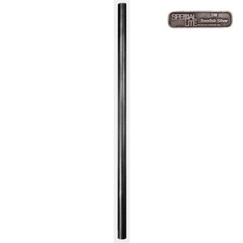 7' Smooth Aluminum Direct Burial Post with Photo Cell
